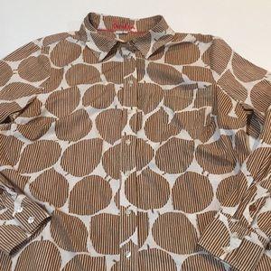 Boden Leaf Print Shirt Size 14